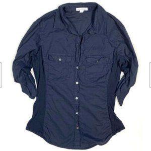 Standard James Perse 3 L Navy Blue Button Shirt